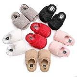 Wallfire Chaussures de Velours Chaudes pour Filles de 0-18M bébé garçons bébés Filles en Cuir PU Sandales d'été Premiers Marcheurs (Color : Brown, Size : 12 (6-12M))