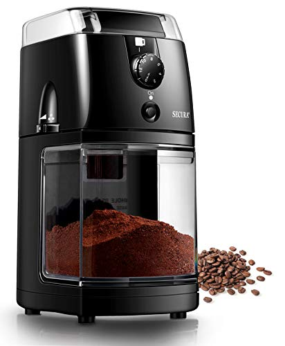Secura Electric Burr Coffee Grinder Mill, Adjustable Cup Size, 17...