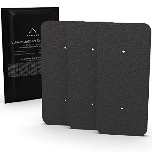 ANDRADO 3er-Set Hoover Trockner Filter 40006731 I Filter für Trockner I 275 x 125 mm I Schwammfilter, Flusenfilter, Filterschwamm für Wärmepumpentrockner