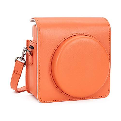 Leebotree Fotocamera istantanea Custodia Protettiva Compatibile con Instax SQUARE SQ 1 Fotocamera Istantanea, in Pelle Soft PU con cinturino a spalla (Terracotta Orange)
