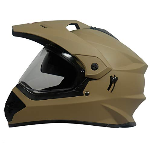 Steelbird Off Road Motocross Helmet with Double Visor (600 MM Large, Matt...