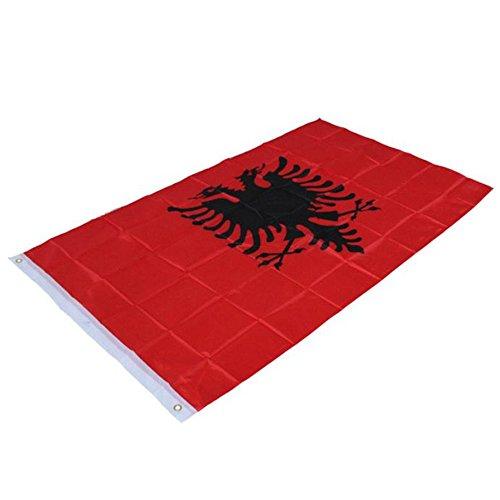 Flagge Fahne,COLORFUL 3x5 ft Albanien Flagge Double Headed Eagle