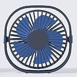 Fan オフィス家庭旅行のための360の回転角度調整機能付き3速のミニUSBデスクトップファンパーソナルポータブル冷却ファン (Color : Black)