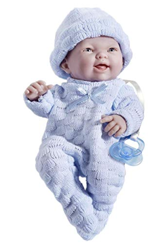 Mini La Newborn Boutique - Realistic 9.5' Anatomically Correct Real Boy Baby Doll dressed in BLUE...
