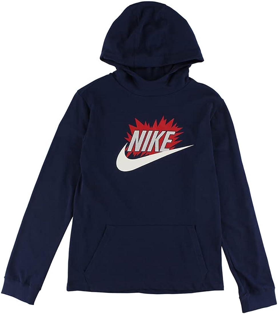 Nike Logo Graphic Hoodie Boys Active Hoodies