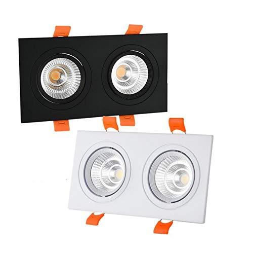 JJSCCMDZ Downlight COB lámpara de proyector del Techo de Doble Regulable LED 7W AC85-265V 10W 12W 15W 20w 30w 40w de Aluminio Empotrado Downlights Luz LED Spot