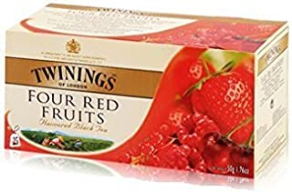 Twinings English Breakfast Four Red Fruit Tea 2g./sachets 25 Sachets/box Light Flavour Strength
