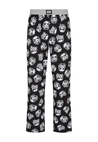 Star Wars Stormtrooper Print Black Lounge Pant Pyjama Bottoms by Re:Covered (Tex...