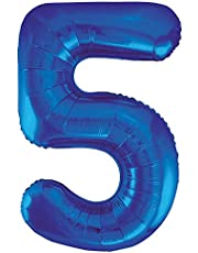 Folieballong i siffror design, stor, 86,4 cm