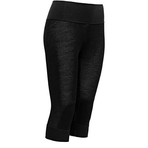 Devold Lana Mesh 3/4 - Pantaloni lunghi da donna, Donna, Caviale, XS