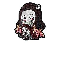 lihe008 漫画アニメ刺繍衣類布(2本)約7.2 * 6.2cm (Color : 4)