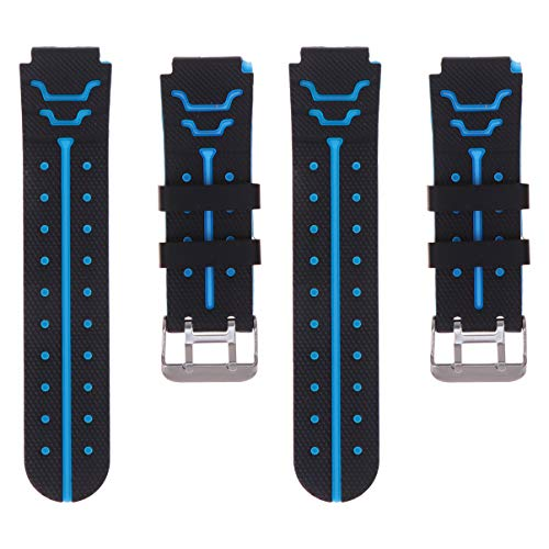 Hemobllo 2pcs Uhrenarmband - vierte Generation Kinderuhren Armband Armband Ersatzarmband komfortable Armbanduhr Zubehör für Kinder Kind Armbanduhr schwarz und blau