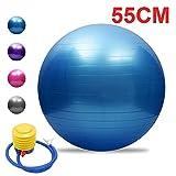 YSCYLY Ballon Suisse De Gym,45cm / 55cm / 65cm / 75cm avec Pompe à air,Ballon Fitness Yoga Grossesse Chair