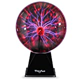 Plasma Ball, Theefun 8inch Touch & Sound Sensitive Plasma Globe, Nebula Sphere Plasma Lamp Novelty Toy for Kids/Decorations/Bedroom, Best Gift for Birthday or Holiday
