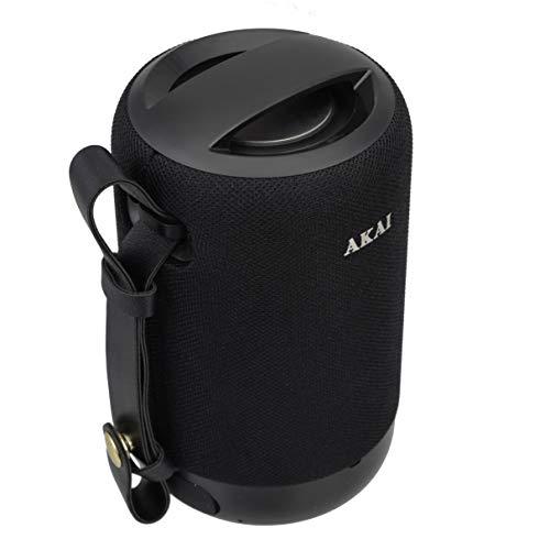Akai Humdrum HD100 Wireless Bluetooth Portable Speaker, TWS, 10W High Bass, Passive Diaphragm,IPX5 Water Resistant, 4-8 Hrs Playback, Aux,TF,USB & FM Playback