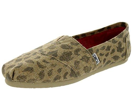 Toms Womens Classics Leopard Burlap