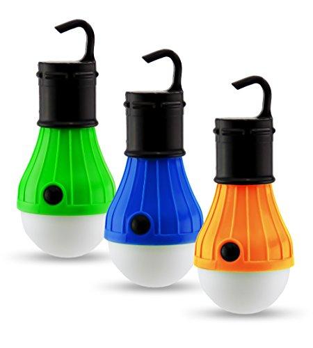 Astorn Mini-Hängelampe, tragbare LED Camping-Leuchte, für ZeltBatteriebetrieben; Camping-Ausrüstung; Lampe für drinnen und draußen.Batteriebetriebene Notfall-Leuchte (3 Stück).