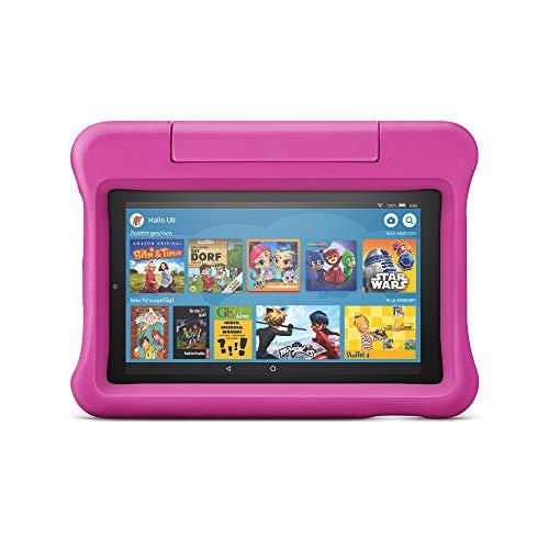 Fire7 Kids -Tablet | Ab dem Vorschulalter | 7-Zoll-Bildschirm, 16GB, pinke kindgerechte Hülle