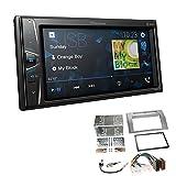 Pioneer DMH-G220BT 2-DIN Autoradio Mediacenter Bluetooth USB AUX passend für Toyota Corolla Verso 2004-2009 Silber