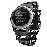 BestTechTool watch adapter compatible with LEATHERMAN TREAD and compatible with GARMIN watch (Fenix 5x; Fenix 6x; Fenix 3, 3HR, 3Sapphire, black)