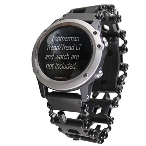 BestTechTool Adaptador de Acero Inoxidable Compatible con Banda de Rodadura de Leatherman para Reloj Manzana 44 mm Reloj / 42mm