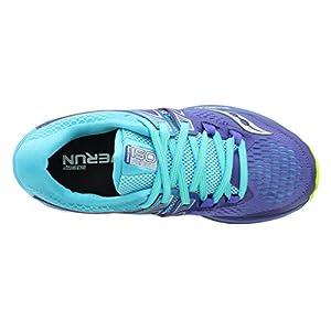 Saucony Women's Triumph iso 3 Running Shoe, Purple/Blue/Citron, 6 M US