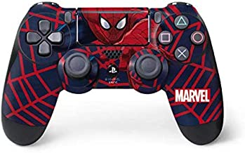 Skinit Decal Gaming Skin for PS4 Pro/Slim Controller - Officially Licensed Marvel/Disney Spider-Man Crawls Design