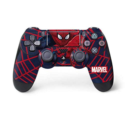 Skinit Decal Gaming Skin for PS4 Pro/Slim Controller - Officially Licensed Marvel/Disney Spider-Man Crawls Design