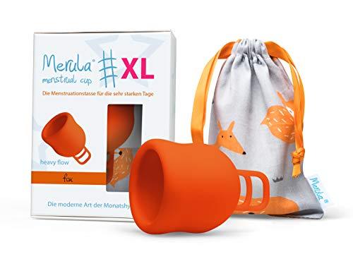 Merula Cup XL fox (orange) – Die Menstruationstasse für die sehr starken Tage