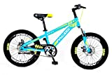 MDS UNLIMITED CYCLES-K8 Daredevil 20 Inch Cycle Fat Tyre No Gear Kids MTB Both Boys and Girls - Sky...