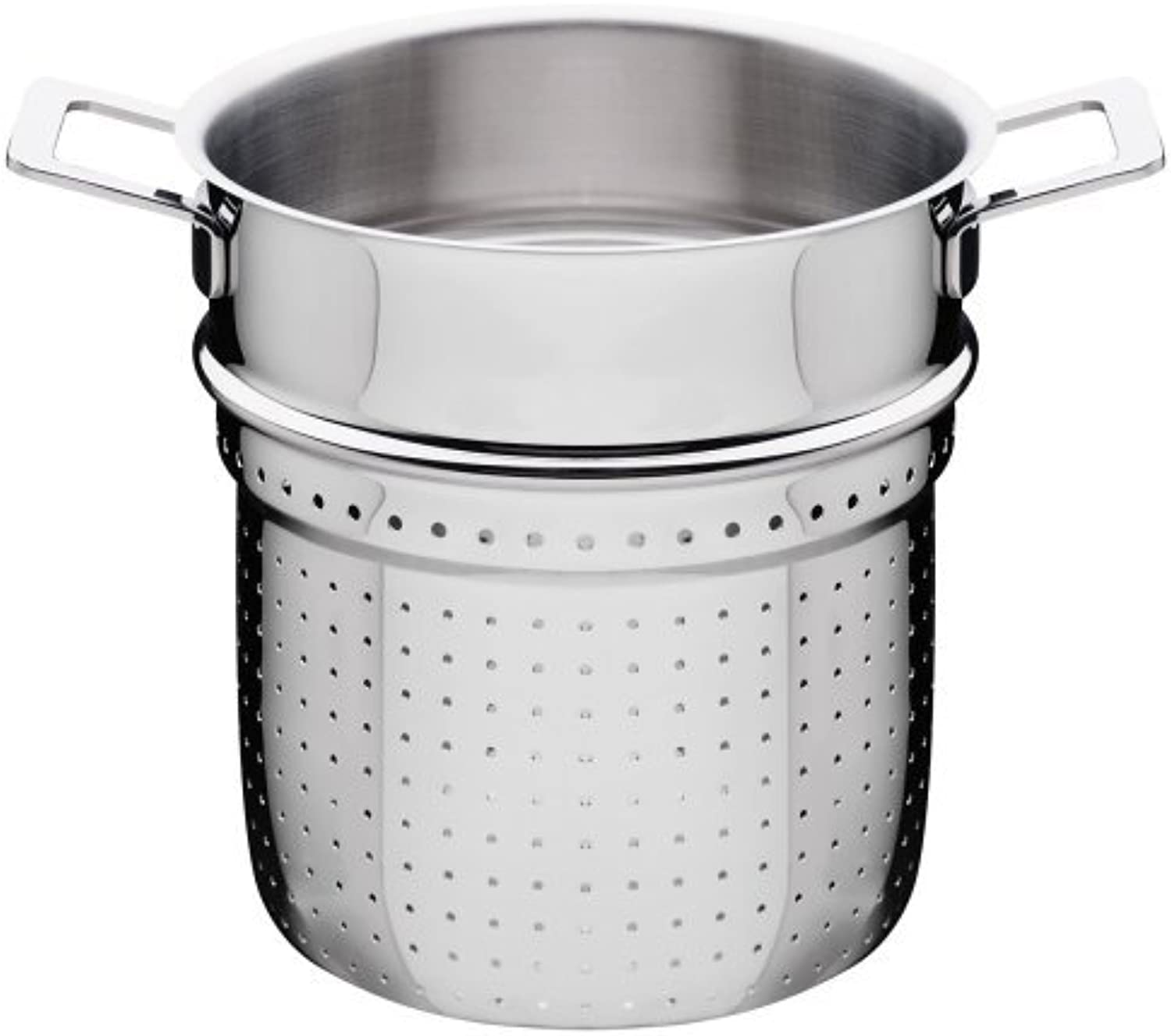 A Di Alessi,AJM306 POTS & PANS , Pierced basket in 18 10 stainless steel mirror polished,8 Inch