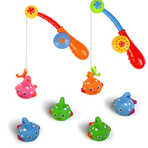 Fajiabao Bath Toys Set for Toddlers Shower Kids Fishing Game Bathtub Toy...