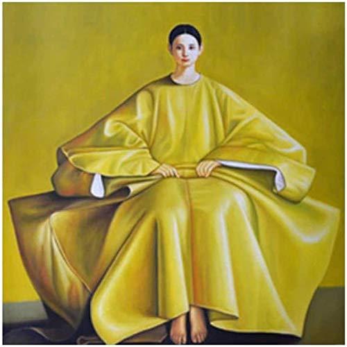 Pintura De La Lona 60x90cm Sin Marco Arte de la mujer del este de las mujeres coreanas para la decoración del hogar de la sala de estar