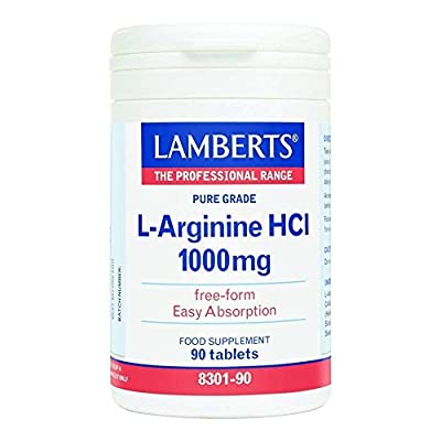 Lamberts L-Arginine 1000mg, 90 tablets by Lamberts