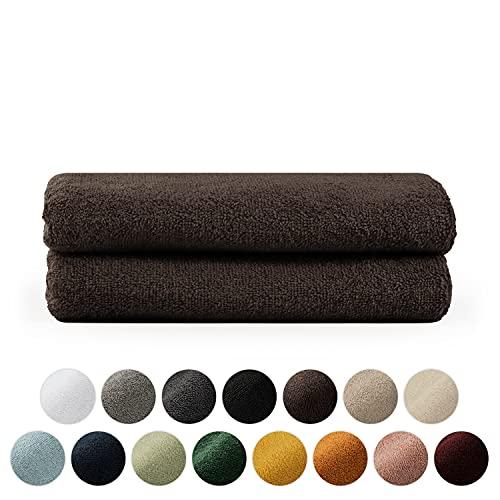 Blumtal Set de 2 Toallas de Manos (50x100cm) - Toallas Suaves y Absorebentes, 100% algodón, Certificado Oeko-Tex 100, Marrón