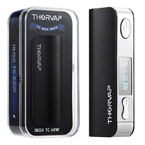 Sigaretta Elettronica Batteria, THORVAP IBOX 60W 2200 mAh Controllo della Temperatura Box Mod, Schermo OLED HD, Una Batteria da 2200mAh Incorporata, Prodotto senza Nicotina né tabacco, No Liquido