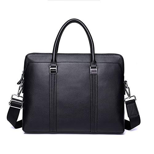 Handtas voor heren – waterdichte leren koffer voor business – schoudertas voor 18,3 inch laptop