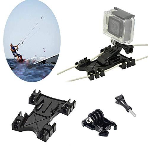Kitesurfing Kite Line Mount, Kiteboarding Line Holder Adaptador Adaptive para GoPro Hero 4 5 6 7 8 9 Black Silver Session, AKASO/Campark/YI y otras cámaras