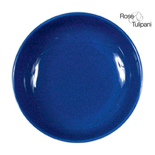 Rose e Tulipani r131800002 F & C Assiette à Soupe, 19,5 cm, uni, Bleu, Lot de 6