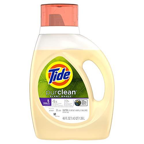 Tide Purclean plant based liquid laundry detergent, honey lavender, 32 loads, 46 Fl Oz