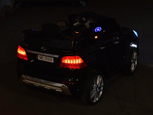RC Auto kaufen Kinderauto Bild 6: Mercedes Benz ML 350 Kinder Elektro Auto - Original Lizenz Daimler - Vollausstattung - LED Beleuchtung - Vollgummi - USB - Bluetooth - Kinderauto*