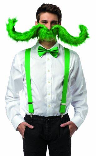 Rasta Imposta 5471-GN Postiche Grande Moustache Verte Homme 76,2 cm (Taille Unique)
