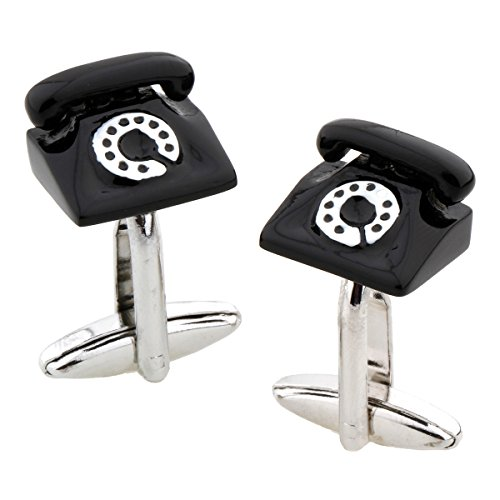 MRCUFF teléfono Rotary teléfono de Escritorio par Gemelos en una Caja de Regalo y paño de Pulido