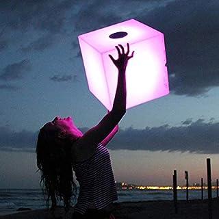 Delamaison JLE3240012 Cube Lumineux LED, Plastique, Blanc