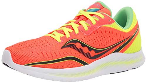 Saucony Women's Kinvara 11 Running Shoe, Vizi red/Citron, 6.5