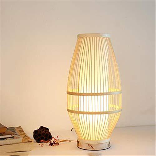Jidan Kristall Kronleuchter LED Wandlampe Tischlampe Chinese Schlafzimmer Tischlampe Moderne Nacht Wohnzimmer Zen Lampe Teestube Study Bambusbett, Tisch, Schreibtisch-Lampen-Licht (Size : B)
