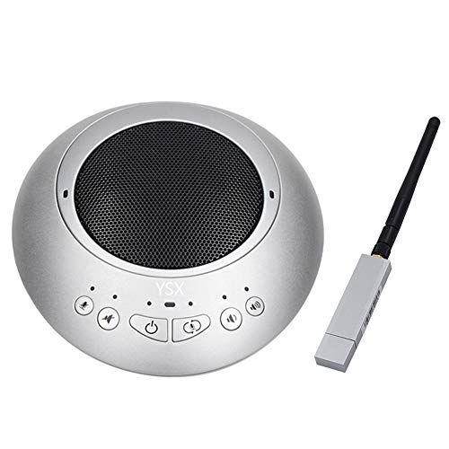 YSX NT890S Wireless Conference Speaker and Omni-Directional Microphone Integrated, 360° Audio Pickup Conferencing System Teleconference for Around 35 Suquare Meeting Room