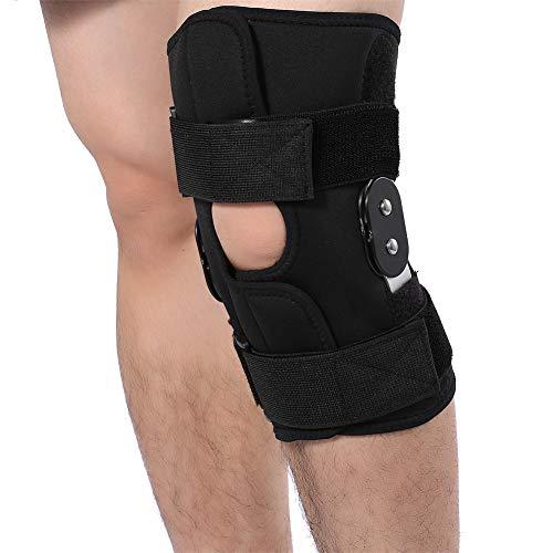 ZJchao Patellaöffnung kniebandage, verstellbare kniestütze Sport Orthopädische Knieschiene Knieschoner mit Aluminiumlegierung Stützen für Damen & Herren zur Dekompression & Schmerzlinderung (XL)