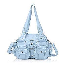 angel kiss sacs à main portés épaule femme Cuir Grand Capacité Sac Bandoulière Femme PU Synthétique Fourre-Tout avec…