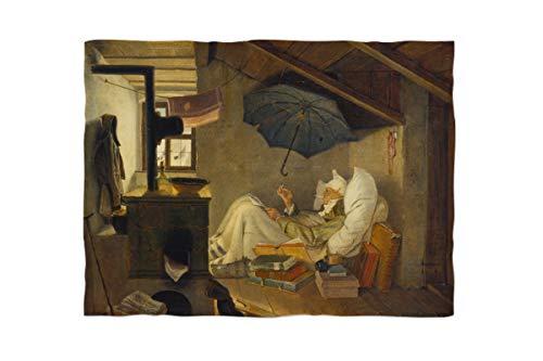 fotobar!style Fleecedecke ca. 180 x 135 cm Carl Spitzweg - Der Arme Poet. 1839
